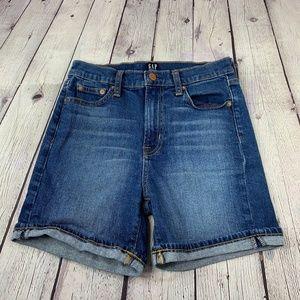"""Gap High Rise 4"""" Denim Shorts Regular Fit Sz 24"""